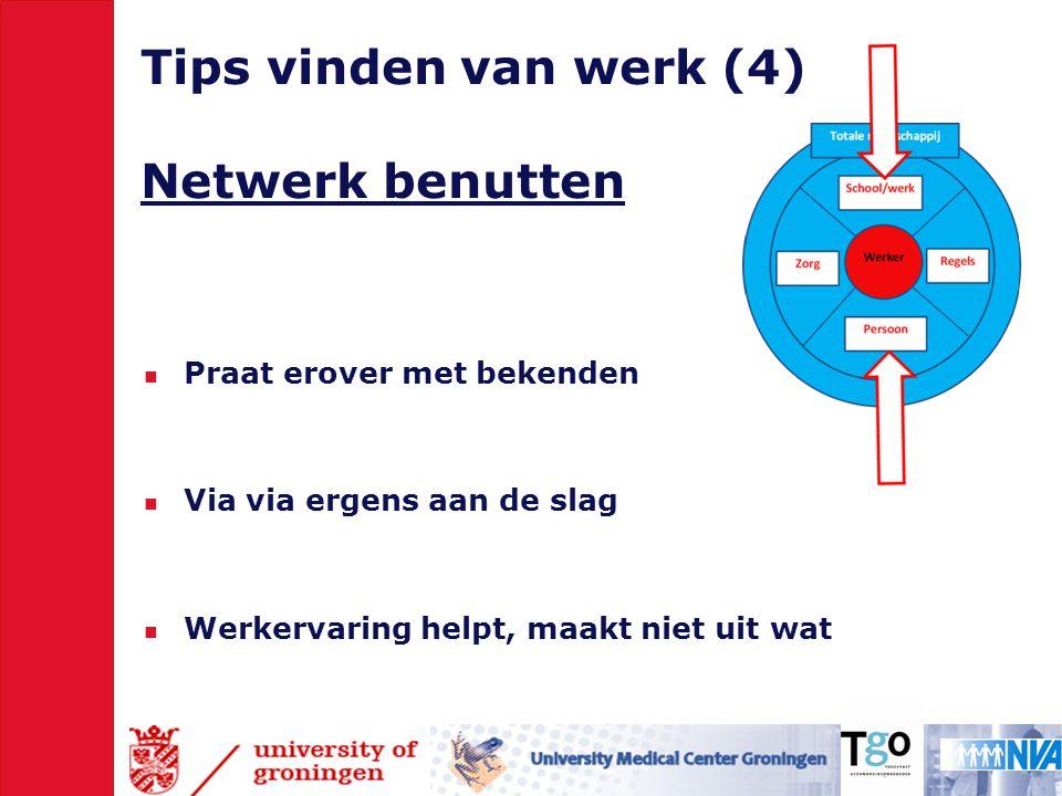 Tips vinden van werk (4) Netwerk benutten