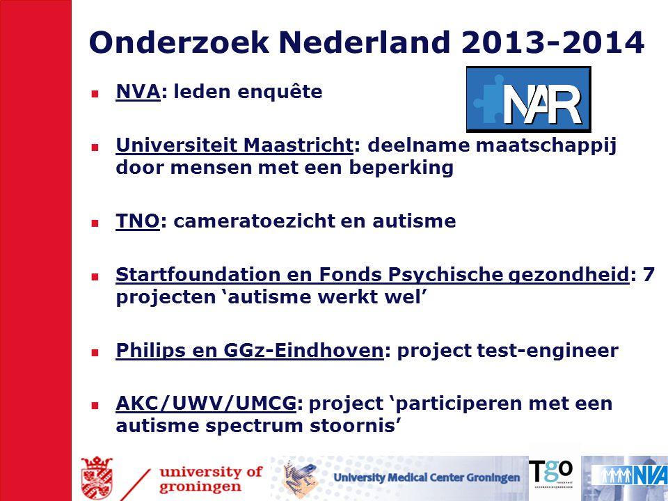 Onderzoek Nederland 2013-2014 NVA: leden enquête