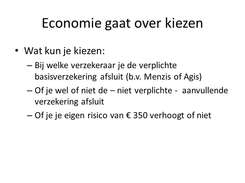 Economie gaat over kiezen