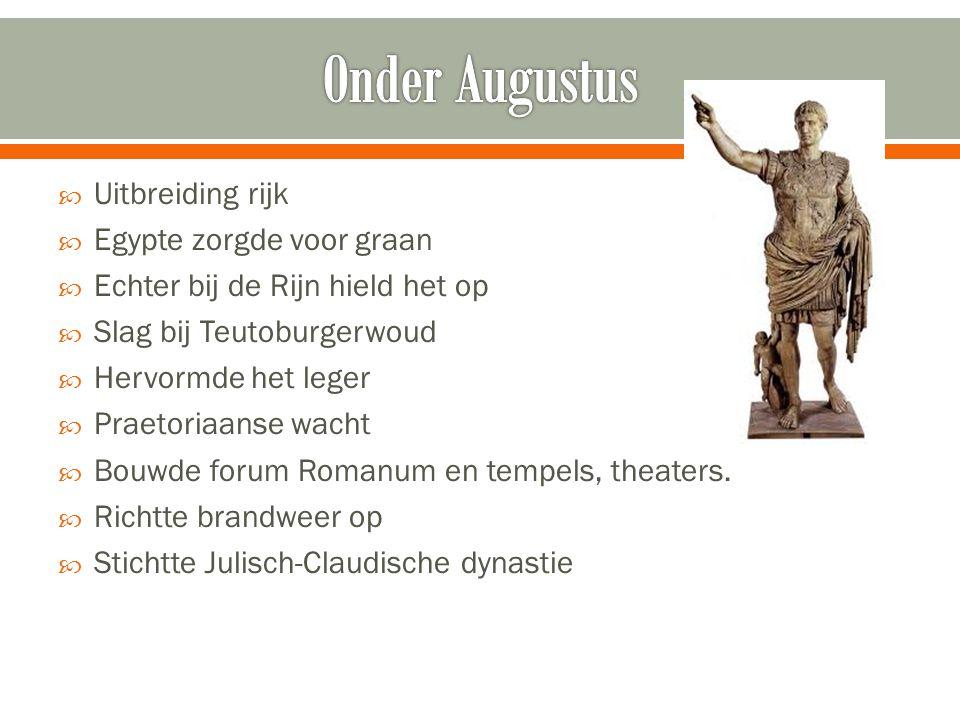 Onder Augustus Uitbreiding rijk Egypte zorgde voor graan