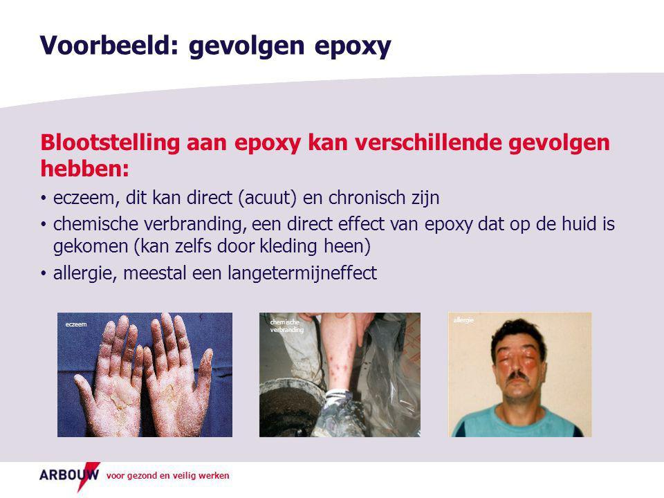 Voorbeeld: gevolgen epoxy