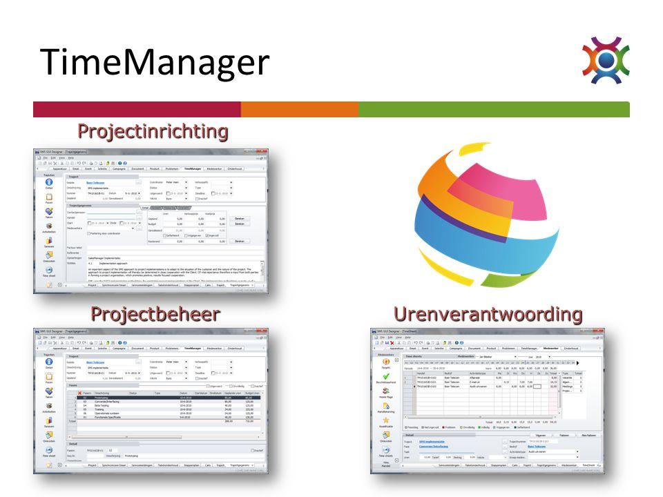 TimeManager Projectinrichting Projectbeheer Urenverantwoording