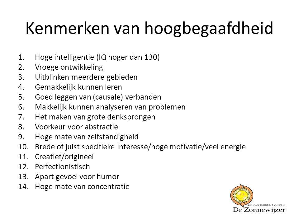 Kenmerken van hoogbegaafdheid