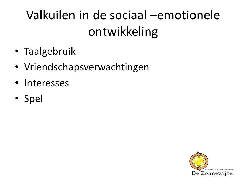 Valkuilen in de sociaal –emotionele ontwikkeling