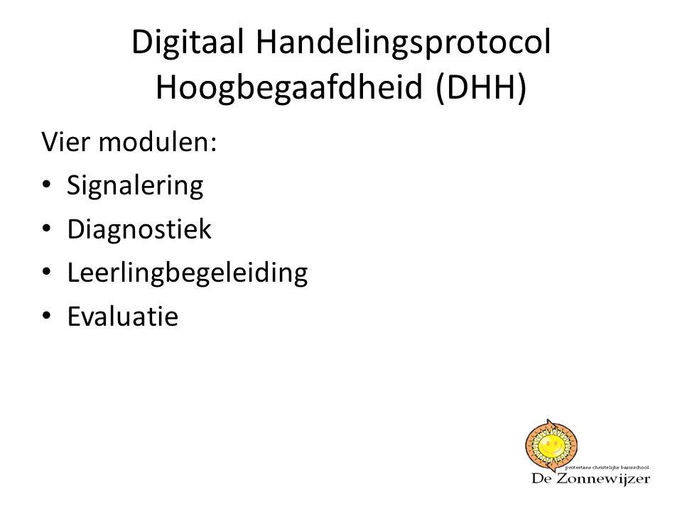 Digitaal Handelingsprotocol Hoogbegaafdheid (DHH)