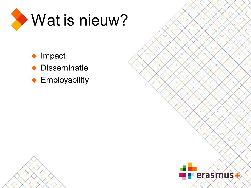 Wat is nieuw Impact Disseminatie Employability