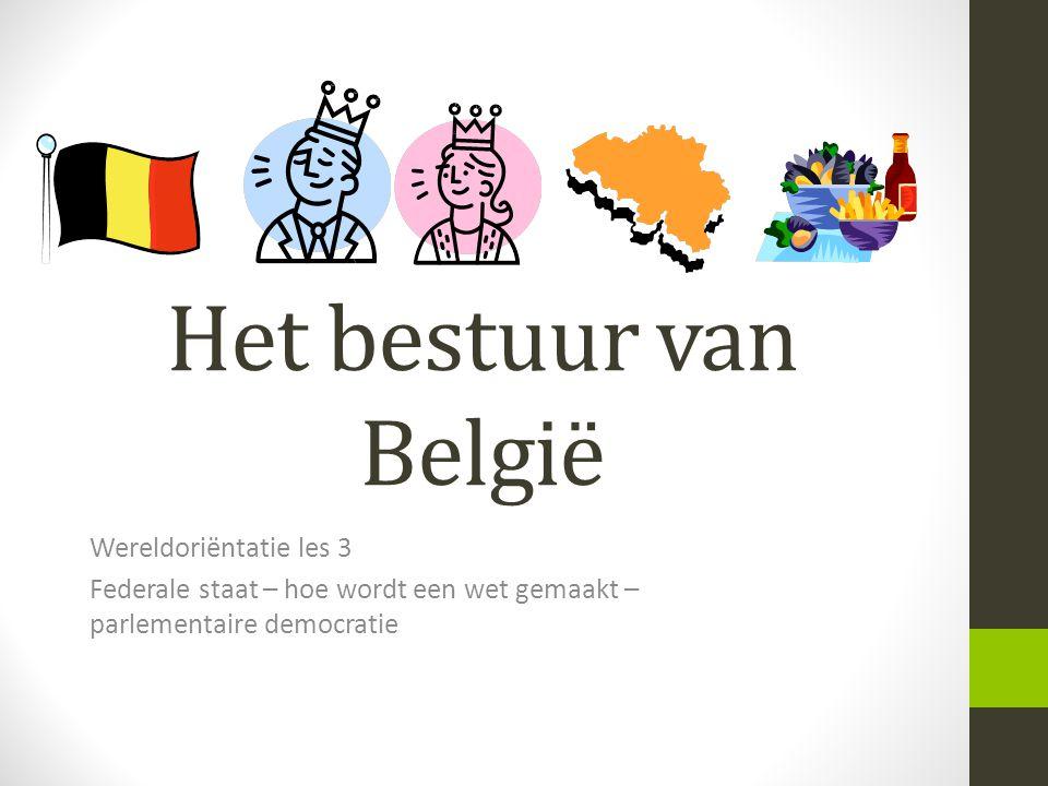 Het bestuur van België Wereldoriëntatie les 3