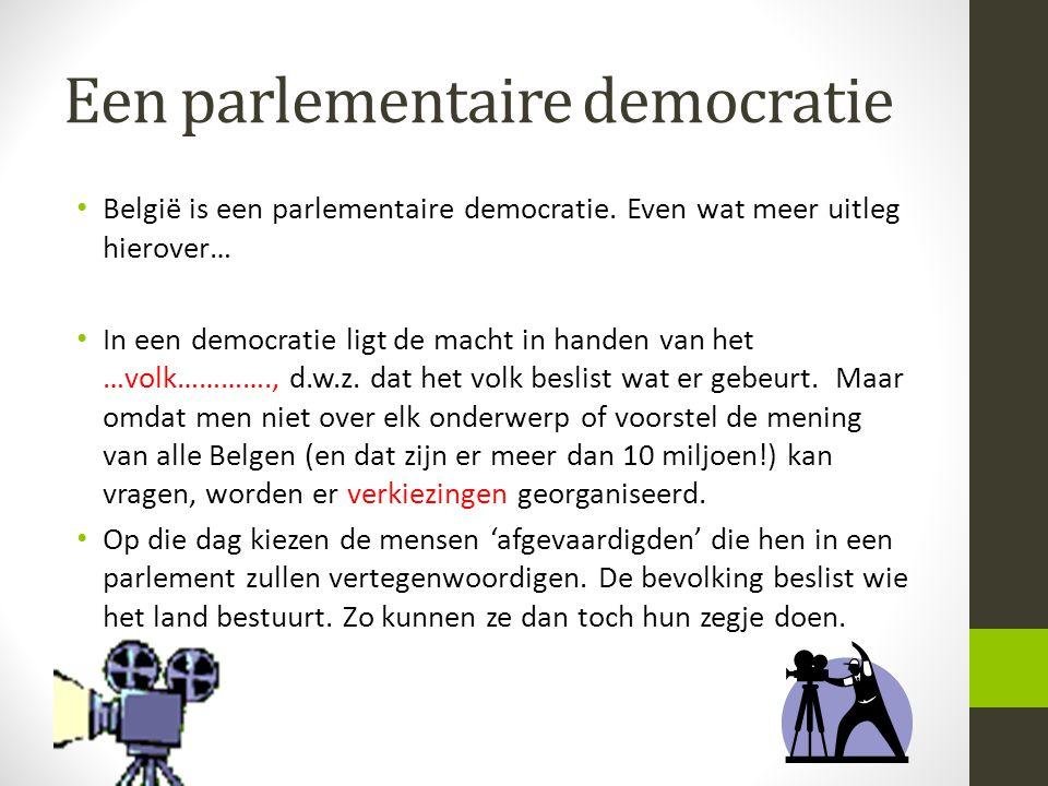 Een parlementaire democratie