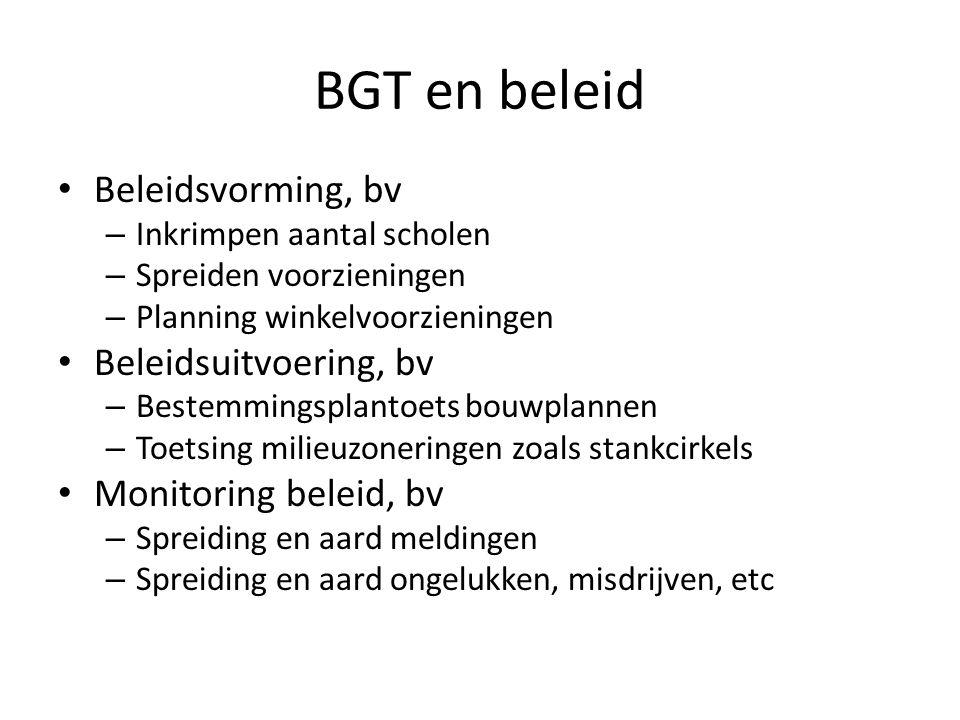 BGT en beleid Beleidsvorming, bv Beleidsuitvoering, bv