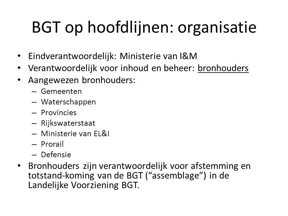 BGT op hoofdlijnen: organisatie