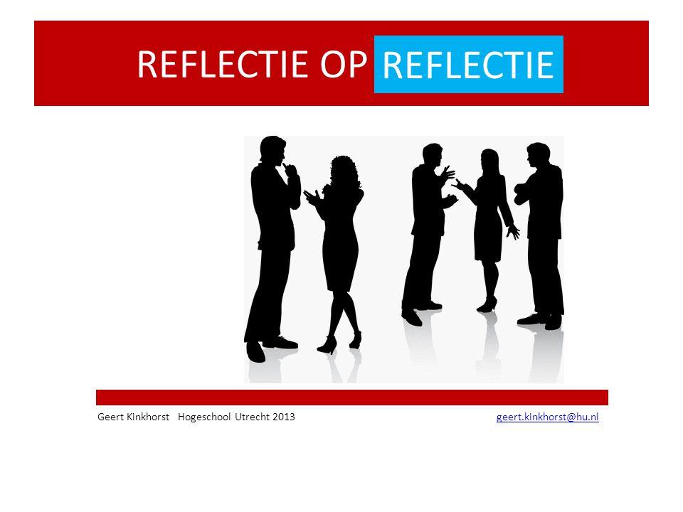 REFLECTIE OP REFLECTIE