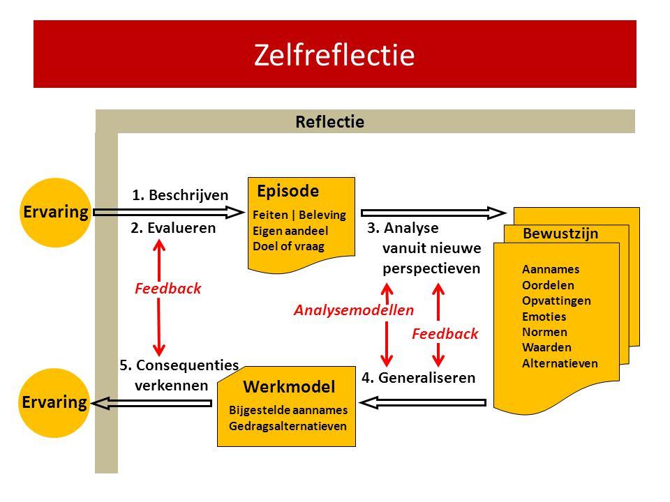 Zelfreflectie Reflectie Episode Ervaring Werkmodel Ervaring