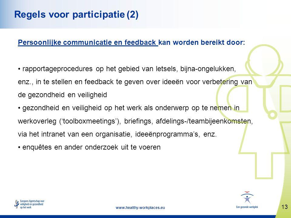 Regels voor participatie (2)