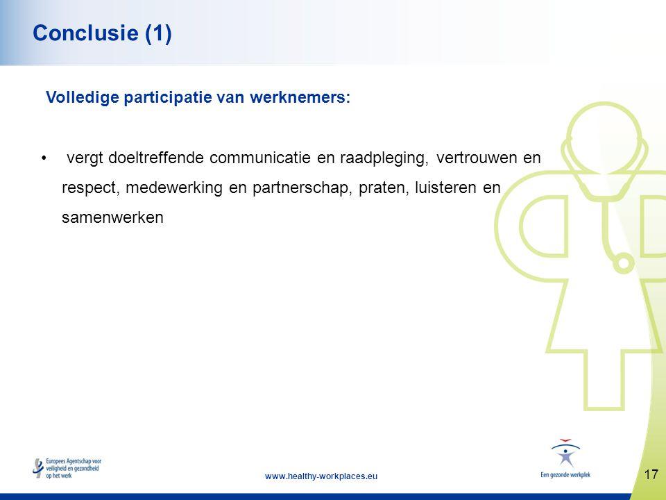 Conclusie (1) Volledige participatie van werknemers: