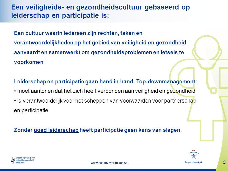 Een veiligheids- en gezondheidscultuur gebaseerd op leiderschap en participatie is:
