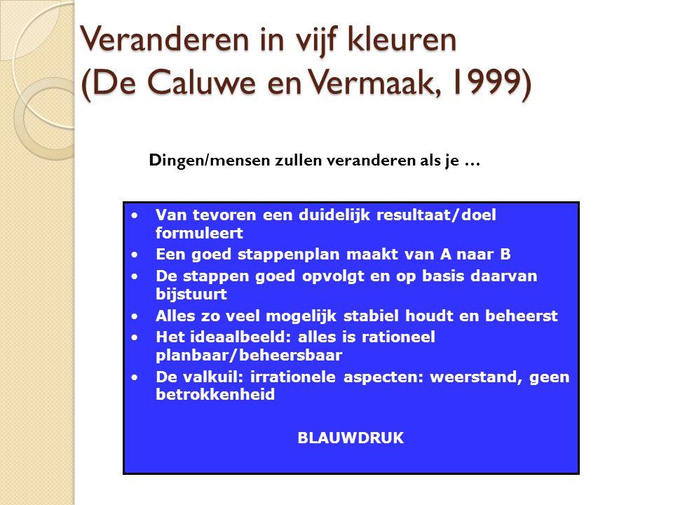 Veranderen in vijf kleuren (De Caluwe en Vermaak, 1999)