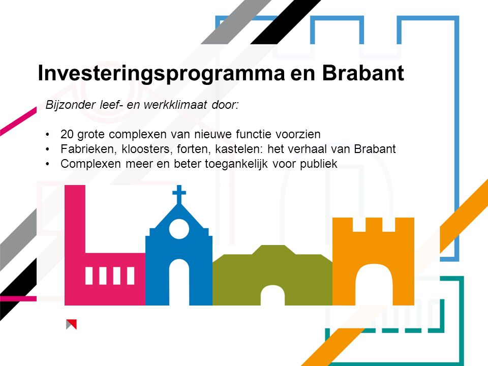 Investeringsprogramma en Brabant
