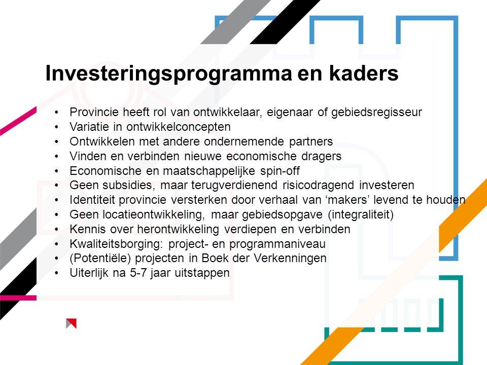 Investeringsprogramma en kaders