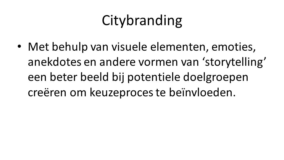 Citybranding