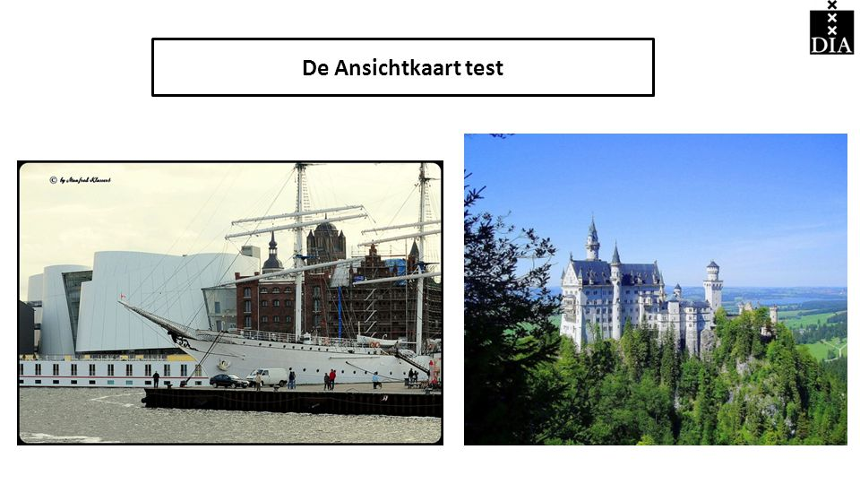 De Ansichtkaart test