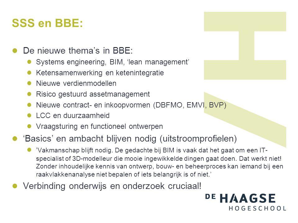 SSS en BBE: De nieuwe thema's in BBE: