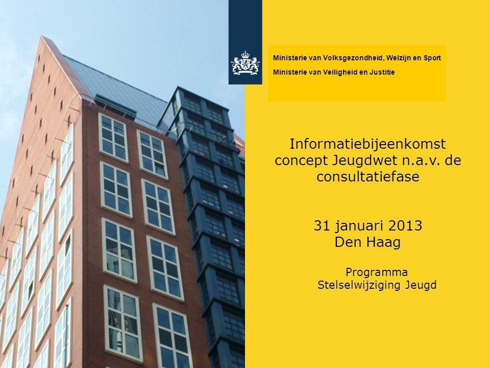 Informatiebijeenkomst concept Jeugdwet n.a.v. de consultatiefase