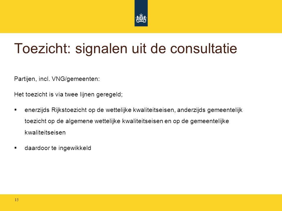 Toezicht: signalen uit de consultatie