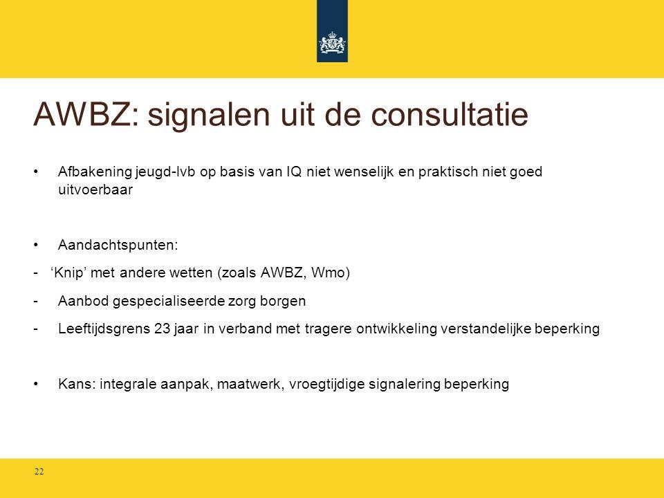 AWBZ: signalen uit de consultatie
