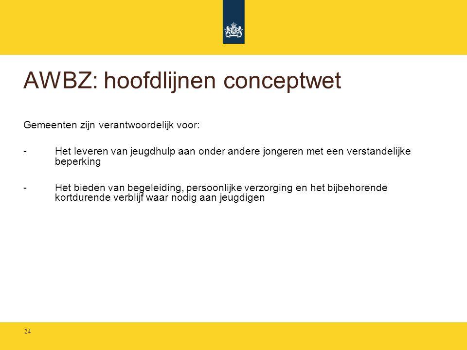 AWBZ: hoofdlijnen conceptwet