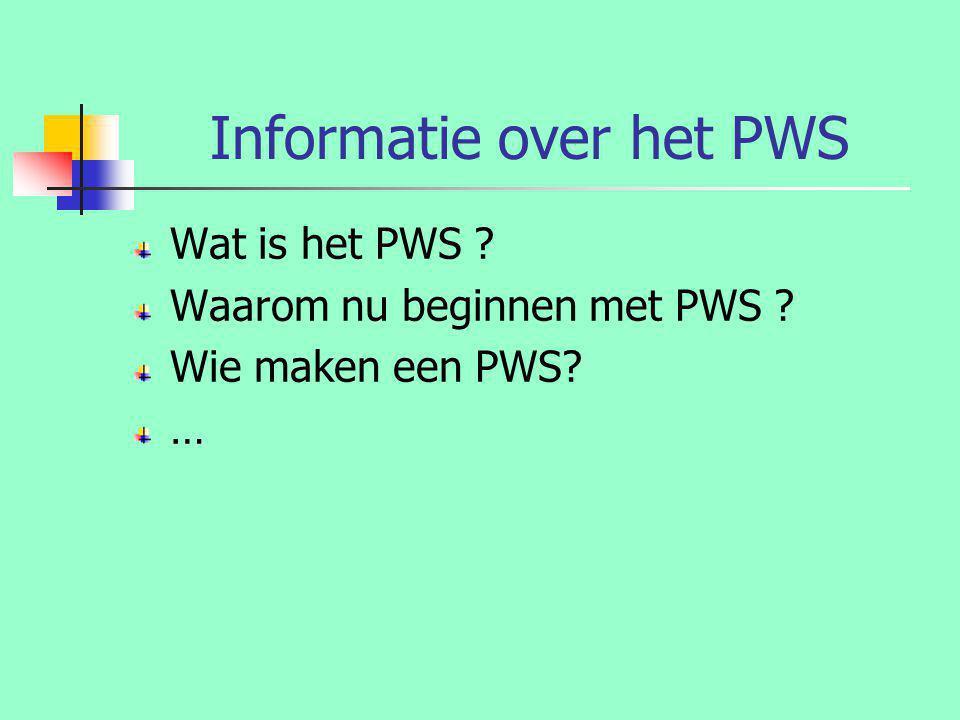 Informatie over het PWS