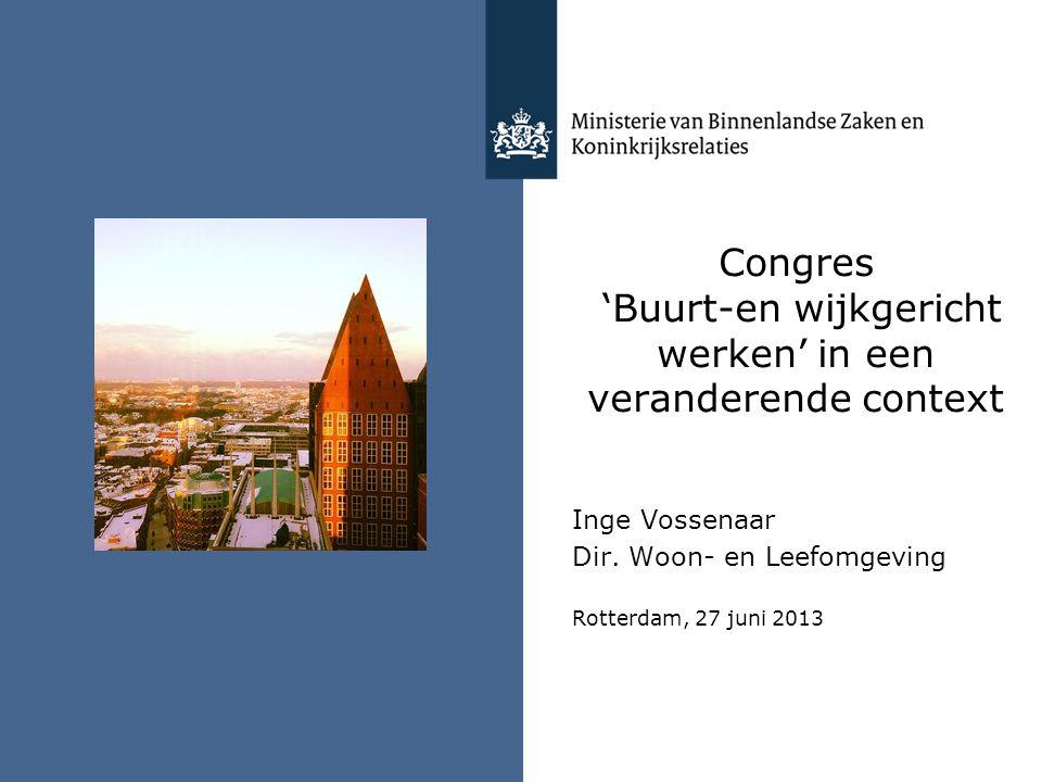 Congres 'Buurt-en wijkgericht werken' in een veranderende context