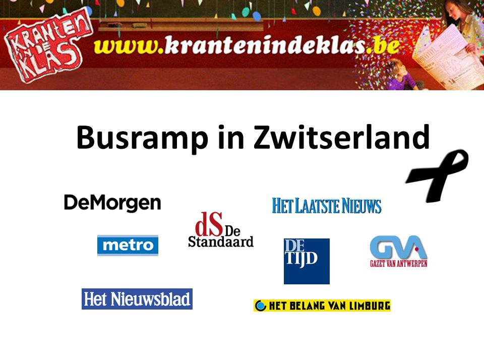 Busramp in Zwitserland