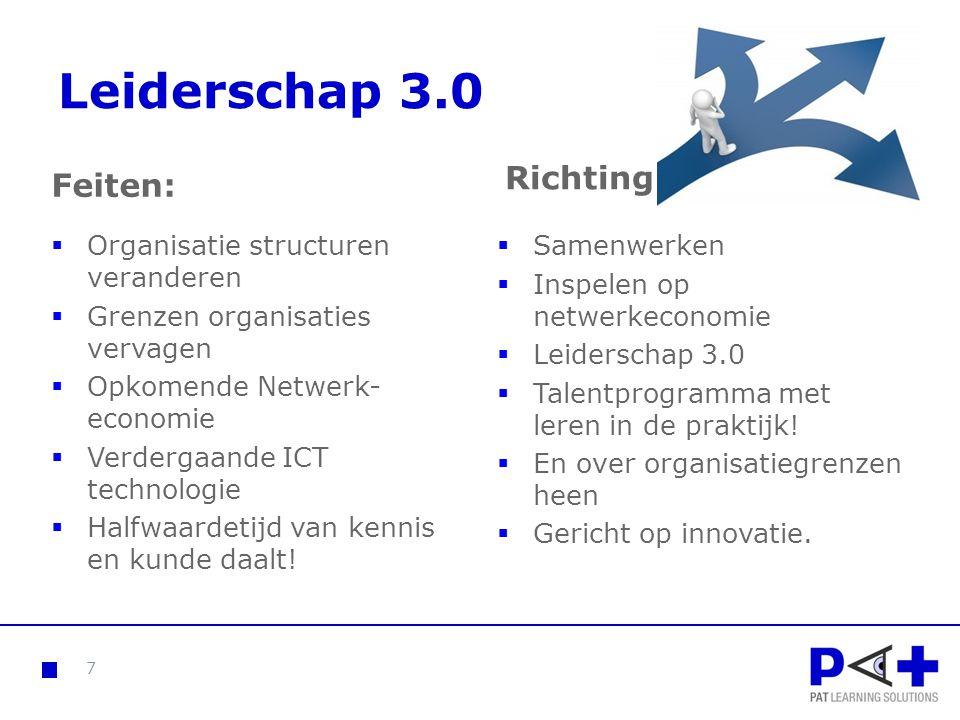 Leiderschap 3.0 Richting Feiten: Organisatie structuren veranderen