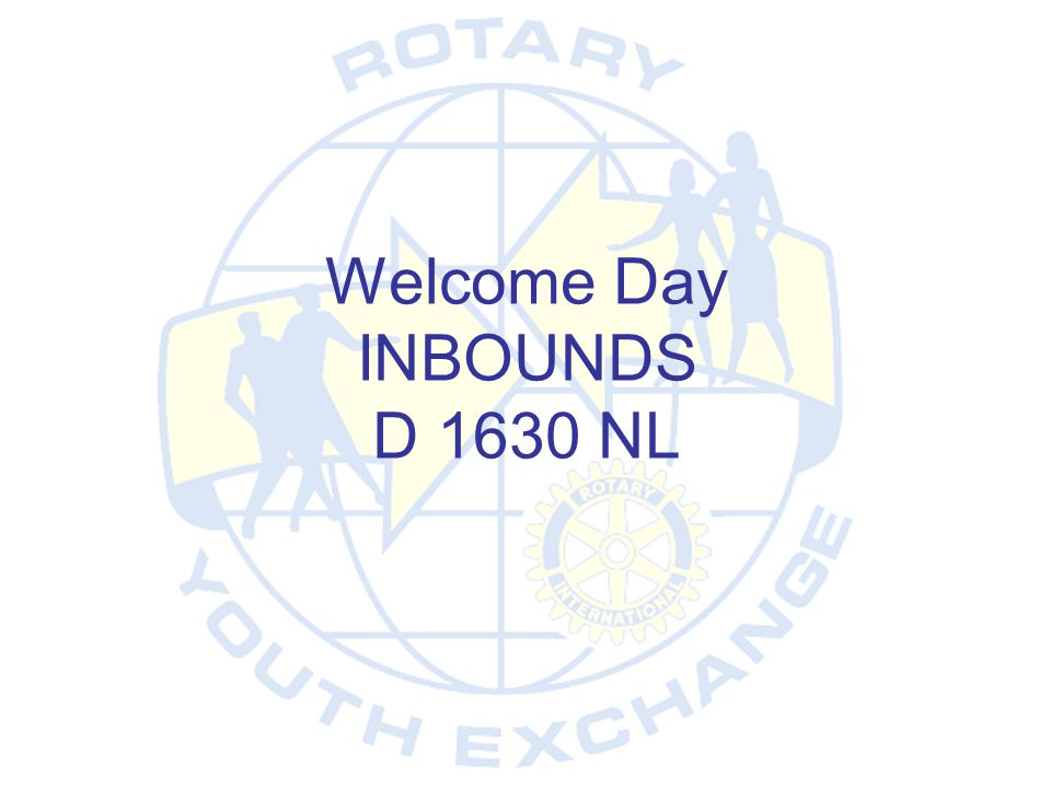 Welcome Day INBOUNDS D 1630 NL