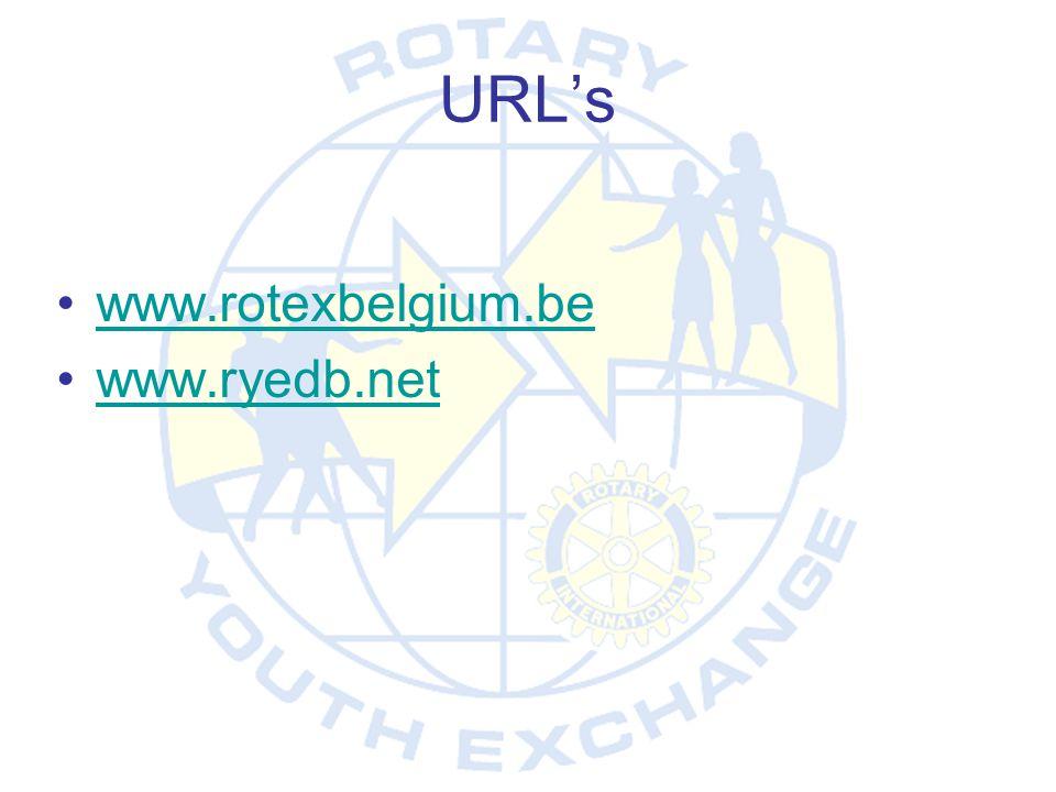 URL's www.rotexbelgium.be www.ryedb.net