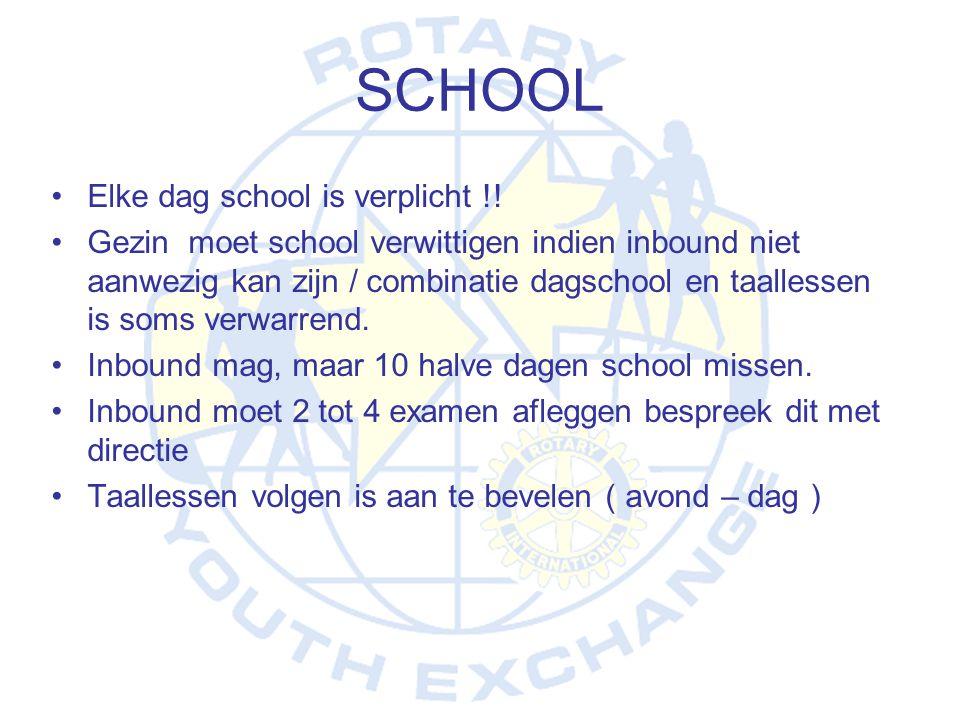 SCHOOL Elke dag school is verplicht !!