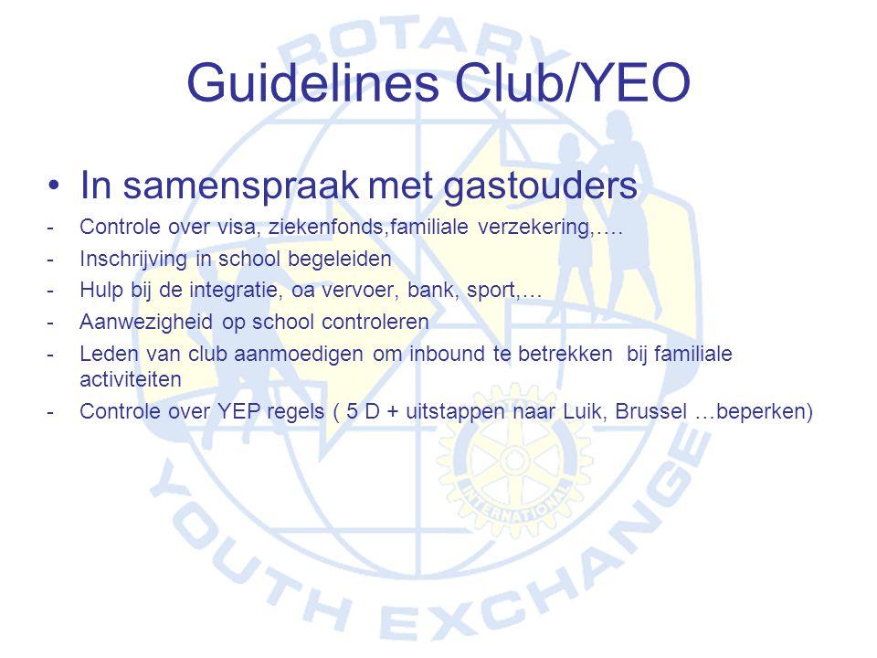 Guidelines Club/YEO In samenspraak met gastouders
