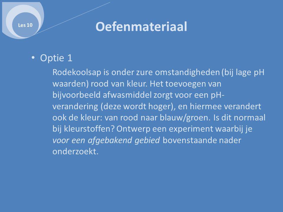 Les 10 Oefenmateriaal. Optie 1.