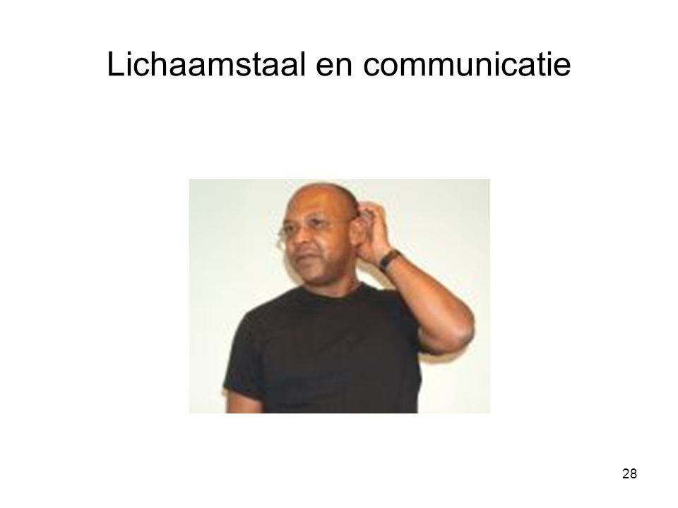 Lichaamstaal en communicatie