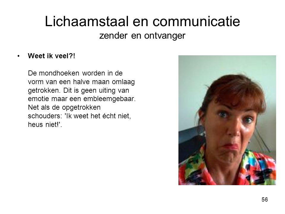 Lichaamstaal en communicatie zender en ontvanger