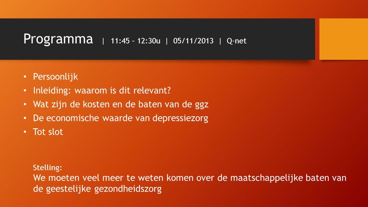 Programma | 11:45 – 12:30u | 05/11/2013 | Q-net