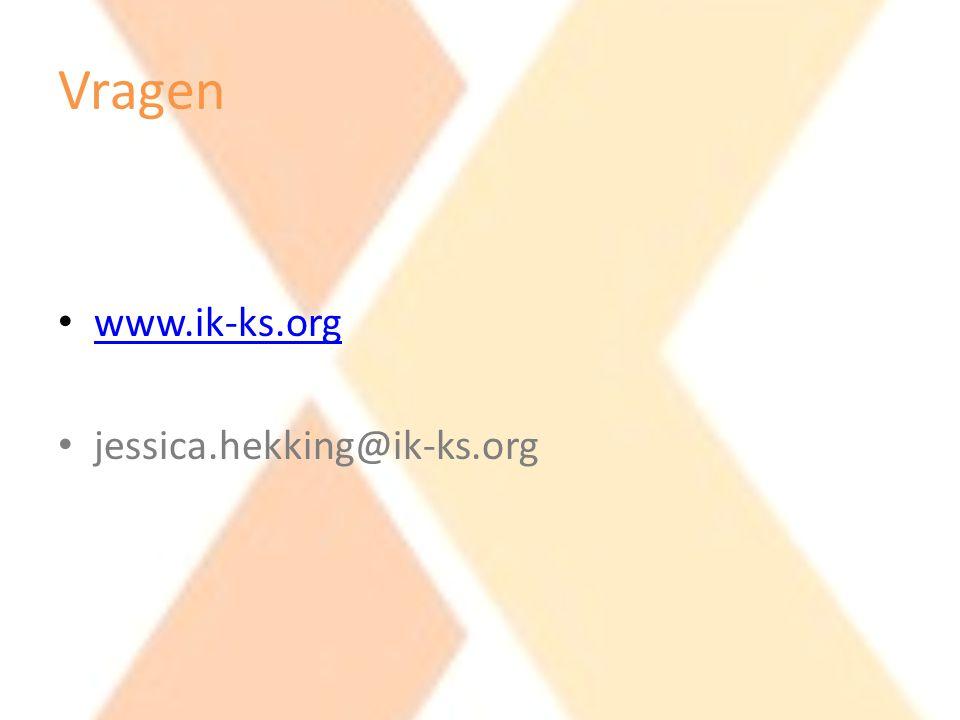 Vragen www.ik-ks.org jessica.hekking@ik-ks.org