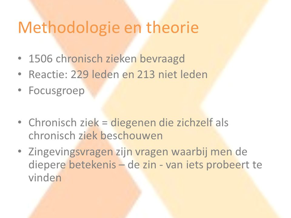 Methodologie en theorie