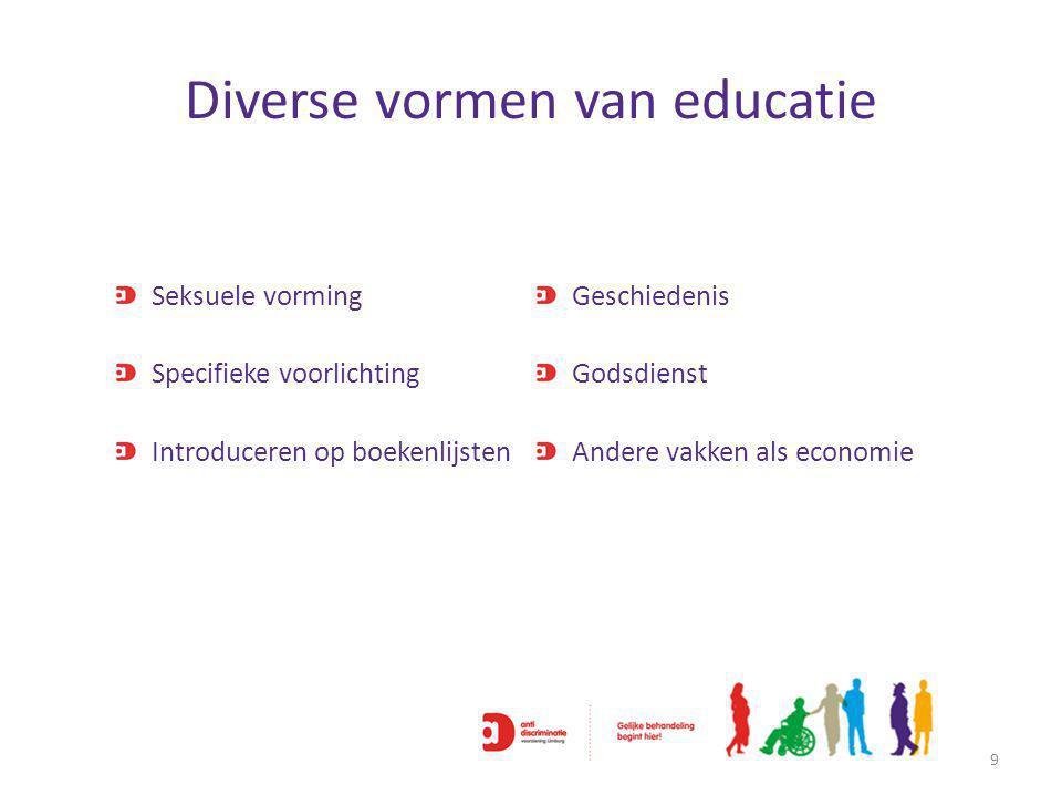Diverse vormen van educatie