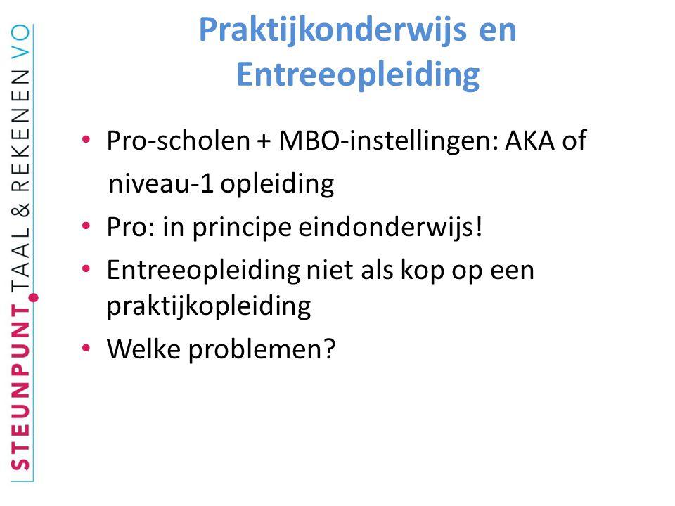 Praktijkonderwijs en Entreeopleiding