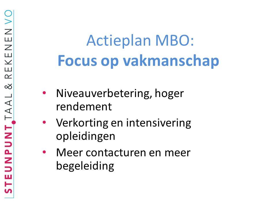 Actieplan MBO: Focus op vakmanschap