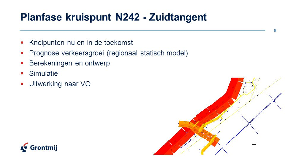 Planfase kruispunt N242 - Zuidtangent