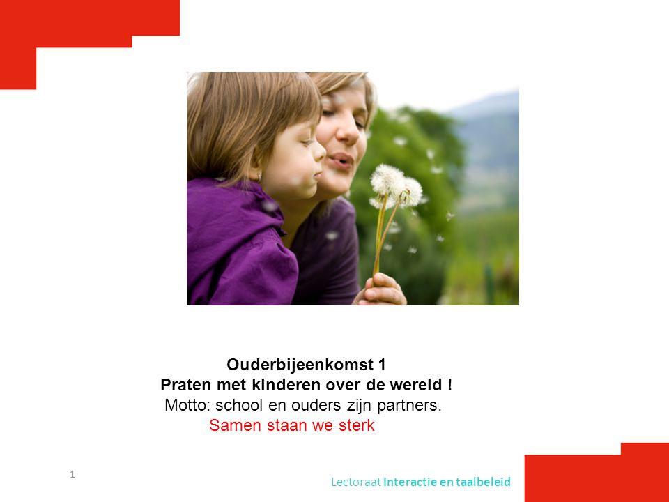 Praten met kinderen over de wereld !