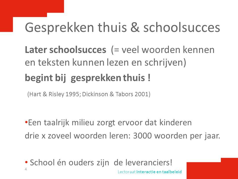 Gesprekken thuis & schoolsucces