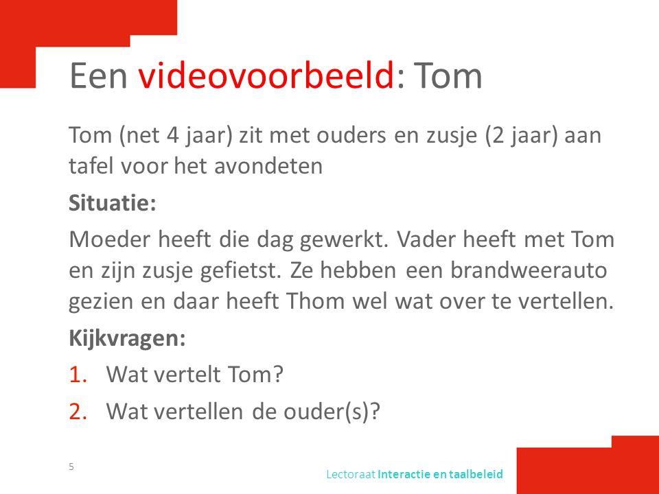 Een videovoorbeeld: Tom